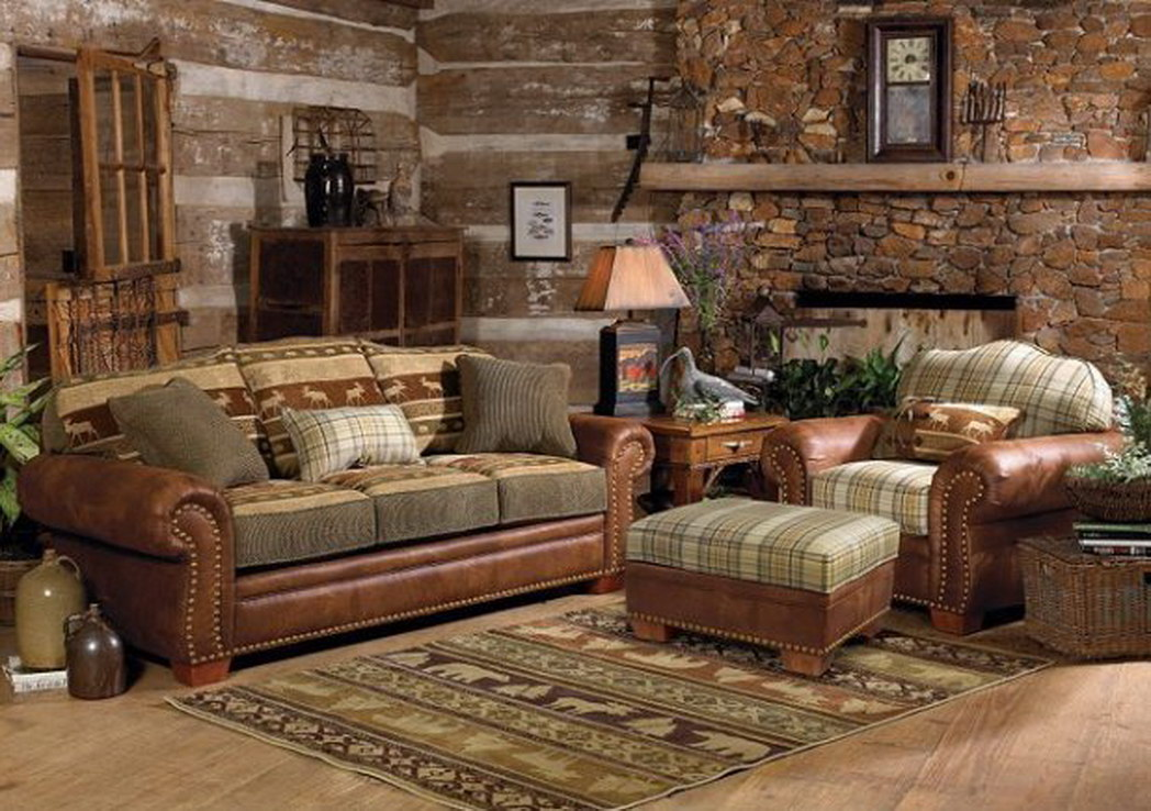 Creeks edge farm wonderfully rustic home decor ideas for Log living room